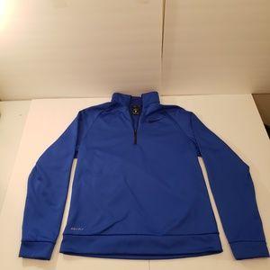 Nike Dri - Fit Long Sleeve Blue 1/4 Zip  Mens M